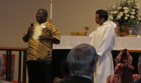Visit by Jerry Sumo, Principal of St. Matthew's UMC School in Logantown, Liberia