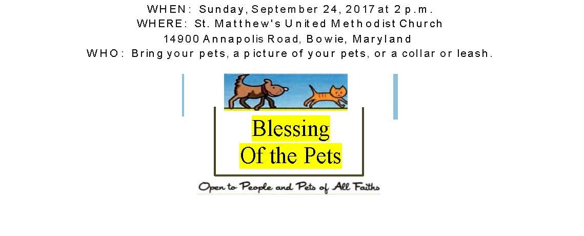 Blessing of the Pets 2017